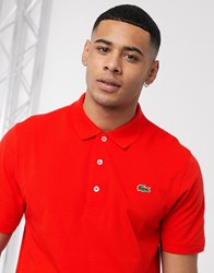 Lacoste Sport Ribbed Texture Polo In Red