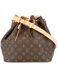 Louis Vuitton Vintage Petit Noe Shoulder Bag Brown