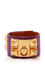 Heritage Auctions Special Collections Hermes Pm Anemone Swift Leather Collier De Chien Purple