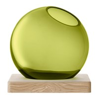 Lsa International Axis Vase And Ash Base Olive Green