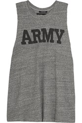 Nlst Printed Cotton Jersey Tank Gray