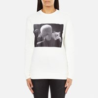 Karl Lagerfeld Women's And Choupette Sweatshirt White