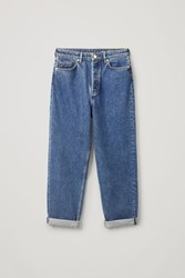 Cos High Waisted Tapered Jeans Blue