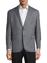 Ralph Lauren Textured Wool Blend Jacket Blue Grey