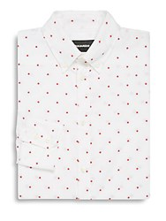 Dsquared Polka Dot Pattern Dress Shirt White