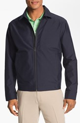 Men's Big And Tall Cutter And Buck 'Weathertec Mason' Wind And Water Resistant Jacket Navy Blue