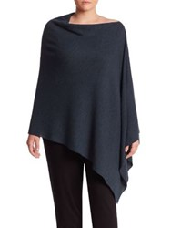 Eileen Fisher Asymmetrical Merino Wool Poncho Fir
