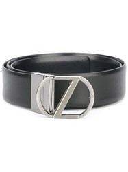 Z Zegna Logo Belt Black
