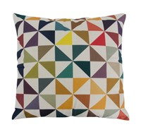 Varaluz Colorful Triangles Square Throw Pillow Various