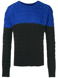 A La Garconne Knitted Jumper Unisex Cotton Polyester M Black