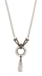 Dannijo Madigania Necklace Ox Silver Clear