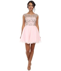 Alejandra Sky Chloe Rhinestone Tule Dress Ice Pink Women's Dress
