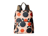 Orla Kiely Matt Laminated Scallop Flower Spot Backpack Tote Blush Backpack Bags Pink