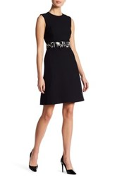 Jason Wu Crepe A Line Belt Dress Black