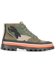 Valentino Camouflage Boots Green