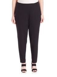 Eileen Fisher Plus Size Slim Ankle Slouchy Pants Black
