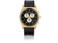 Nixon Men's Time Teller Chrono Watch Black