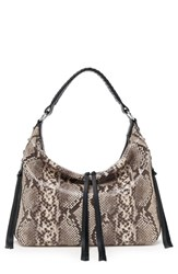 Botkier Samantha Leather Hobo Bag White Teak Snake