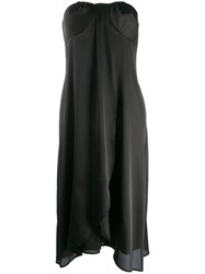 Federica Tosi Strapless Drape Dress Black