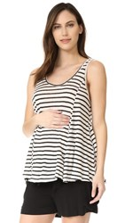 Hatch The Linen Swing Tank Black White Stripe
