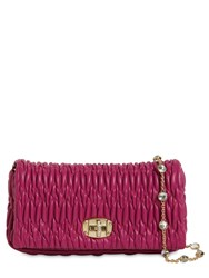 Miu Miu Embellished Matelasse Leather Clutch Dalia