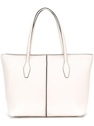 Tod's Tag Detail Tote White