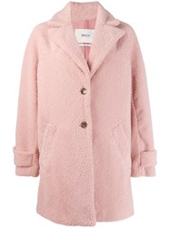 Bally Textured Single Breasted Coat Pink