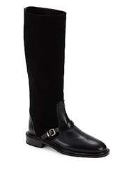 Jil Sander Tall Leather Boots Black