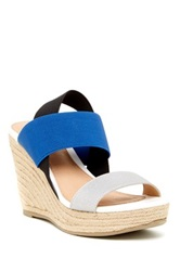Report Dewan Wedge Sandal Blue