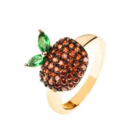 Latelita London The Forbidden Apple Ring Red Red Gold Green