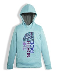 The North Face Girls' Surgent Logo Pullover Hoodie Light Blue