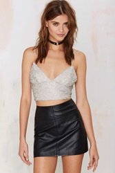 Nasty Gal Glamorous Bae Watch Sequin Crop Top