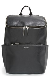 Matt And Nat 'Brave' Faux Leather Backpack Black