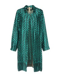 Attic And Barn Overcoats Turquoise