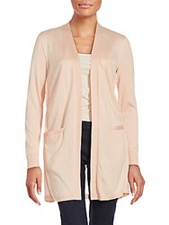 Lafayette 148 New York Solid Open Front Jacket Iced Coral
