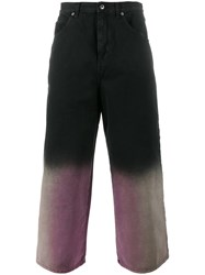 J.W.Anderson Shaded Cropped Jeans Black