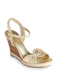 Jack Rogers Clare Wedge Sandals Platinum