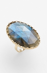 Lana 'Ultra' Large Labradorite Ring Yellow Gold Labradorite