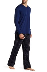 Lacoste Long Sleeve Shirt And Print Pant Set Black