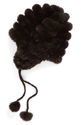 Women's Dena Genuine Rabbit Fur Trooper Hat Brown Solid Brown