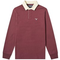 Barbour Shield Rugby Shirt Burgundy