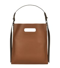 Allsaints Leather Voltaire Flat Hobo Bag Brown