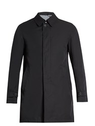 Herno Single Breasted Water Resistant Overcoat Navy