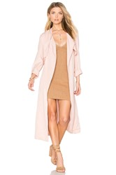 Monrow Long Trench Coat Pink