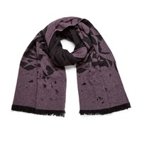Mcq By Alexander Mcqueen Women's Swallow Scarf Electric Pink Black