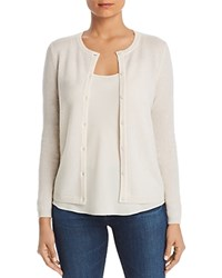 Bloomingdale's C By Crewneck Cashmere Cardigan 100 Exclusive Ivory