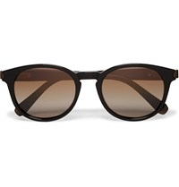 Brioni Round Frame Acetate Sunglasses Black