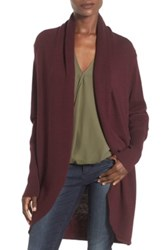 Leith Shawl Collar Cocoon Cardigan Purple