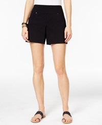 Inc International Concepts Curvy Pull On Shorts Only At Macy's Deep Black