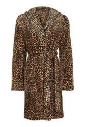 Topshop Leopard Print Robe Brown